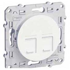 2хRJ45 Cat5 Белый ODACE Schneider Electric
