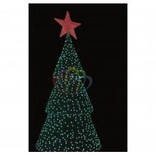 3D фигура NEON-NIGHT Ель со звездой, высота 4.5 метра, цвет зеленый 533-401