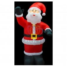 """3D фигура надувная """"Дед Мороз приветствует"""", размер 150 см, внутренняя подсветка 4 лампы, компрессор с адаптером 12В, IP 44 (IFC060150-150cm) NEON-NIGHT"""