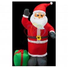 3D фигура надувная NEON-NIGHT Дед Мороз с подарком, размер 120 см, внутренняя подсветка 3 лампы 511-054