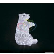 Акриловая фигура NEON-NIGHT Белый медведь, 36х41х53 см, 200 светодиодов белого цвета, IP44 с трансформатором 513-249