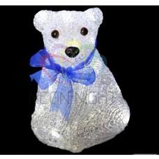 Акриловая фигура NEON-NIGHT Белый мишка, 20 см, 20 светодиодов белого цвета, IP44 б/п батарейный 4,5 V NEON-N 513-247