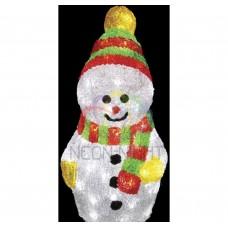 """Акриловая фигура """"Снеговик с шарфом"""" 30 см, 40 белых светодиодов NEON-NIGHT"""