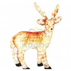 Акриловая светодиодная фигура NEON-NIGHT Бурый олень , 100 см, 380 светодиодов 513-305