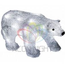 Акриловая светодиодная фигура NEON-NIGHT Медведь, 17 см, на батарейках, 24 светодиода 513-315