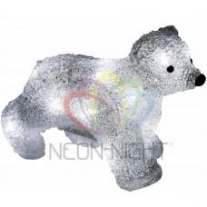 Акриловая светодиодная фигура NEON-NIGHT Медвежонок 18 см, на батарейках, 16 светодиодов 513-312