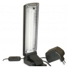 Альфа 9Вт на клипсе, с лампой КЛЛ G23, чёрный свет-к Трансвит