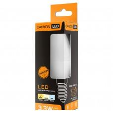 Светодиодная лампа BE14FR3.3W230VW LED lamp, B38 shape, milky, E14, 3.3W, 220-240V, 150°, 250 lm, 2700K, Ra>80, 50000 h CANYON