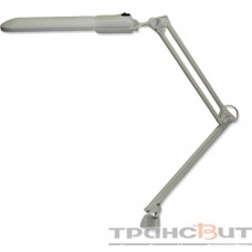 Дельта на струбцине с ЭПРА настол.,серый, 11Вт, с лампой КЛЛ, 2G7, свет-к Трансвит