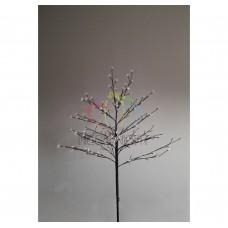 """Дерево комнатное """"Сакура"""", коричневый цвет ствола и веток, высота 1.2 метра, 80 светодиодов белого цвета, трансформатор IP44 NEON-NIGHT"""