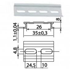 DIN-рейка алюминиевая усиленная 1 м TDM