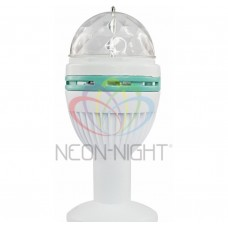 Диско-лампа светодиодиодная подставка Е27 в компл. 220В NEON-NIGHT 601-251