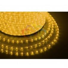 Дюралайт светодиодный, свеч.с динамикой, желтый, 220В, диаметр 13 мм, бухта 100м, NEON-NIGHT