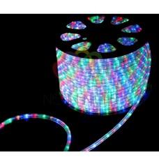Дюралайт светодиодный, свечение с динамикой, мульти, 220В, бухта 100м