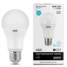 Светодиодная лампа Elementary LED A60 20W E27 4100K 1/10/40 Gauss