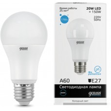 Светодиодная лампа Elementary LED A60 20W E27 6500K 1/10/40 Gauss