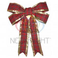 Елочная Фигура NEON-NIGHT Бантик 91 см, цвет красный/золотой 502-532