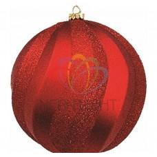 Елочная фигура NEON-NIGHT Шар Вихрь, 20 см, цвет красный 502-062