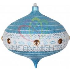Елочная Фигура NEON-NIGHT Волчок 20 см, цвет синий/серебряный 502-443