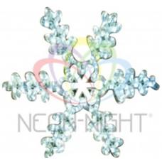 Фигура NEON-NIGHT FM-013 Снежинка белая, LED, размер 45*38 см 501-222