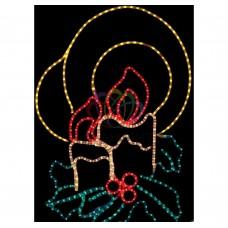 Фигура NEON-NIGHT SL-073 Две свечи, размер 100*75 см 501-320