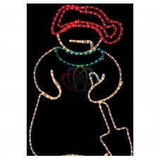 Фигура NEON-NIGHT SL-081 Снеговик с лопатой, размер 94*63 см 501-321
