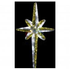 Фигура NEON-NIGHT VES-180 Звезда 8-ми конечная, LED подсветка высота 180см, бело-золотая 506-244