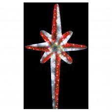 Фигура NEON-NIGHT VES-180 Звезда 8-ми конечная, LED подсветка высота 180см, красно-белая 506-243