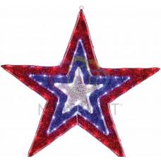 Фигура NEON-NIGHT Звезда бархатная, с динамикой, размеры 91 см 514-022