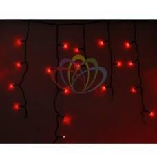 Гирлянда NEON-NIGHT Айсикл (бахрома) светодиодная, 4,8 х 0,6 м., черный провод, 220В, диоды красные 255-132