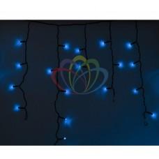 Гирлянда NEON-NIGHT Айсикл (бахрома) светодиодная, 4,8 х 0,6 м., черный провод, 220В, диоды синие 255-133