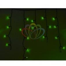 Гирлянда NEON-NIGHT Айсикл (бахрома) светодиодная, 4,8 х 0,6 м., черный провод, 220В, диоды зеленые 255-134