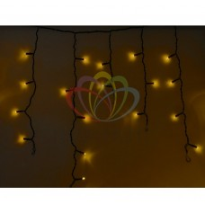 Гирлянда NEON-NIGHT Айсикл (бахрома) светодиодная, 4,8 х 0,6 м., черный провод, 220В, диоды желтые 255-131