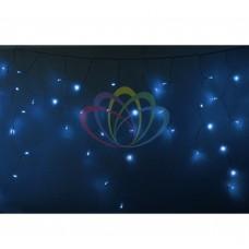 Гирлянда NEON-NIGHT Айсикл (бахрома) светодиодная, 4,8 х 0,6 м., прозрачный провод, 220В, диоды синие 255-143