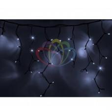 Гирлянда NEON-NIGHT Айсикл (бахрома) светодиодная, 5,6х0,9м., черный провод КАУЧУК, 220В, диоды белые, трансфор 255-345