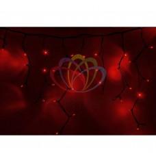 Гирлянда NEON-NIGHT Айсикл (бахрома) светодиодная, 5,6х0,9м., черный провод КАУЧУК, 220В, диоды красные 255-242