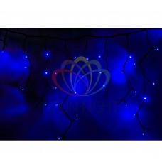 Гирлянда NEON-NIGHT Айсикл (бахрома) светодиодная, 5,6х0,9м., черный провод КАУЧУК, 220В, диоды синие 255-243