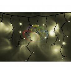 Гирлянда NEON-NIGHT Айсикл (бахрома) светодиодная, 5,6х0,9м, черный провод КАУЧУК, 220В, диоды тепло-белые 255-246
