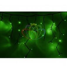 Гирлянда NEON-NIGHT Айсикл (бахрома) светодиодная, 5,6х0,9м., черный провод КАУЧУК, 220В, диоды зеленые 255-244