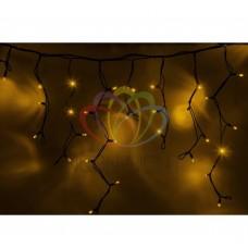 Гирлянда NEON-NIGHT Айсикл (бахрома) светодиодная, 5,6х0,9м., черный провод КАУЧУК, 220В, диоды желтые 255-241