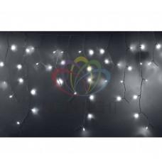 Гирлянда NEON-NIGHT Айсикл (бахрома) светодиодный, 2,4 х 0,6 м, белый провод, 220В, диоды белые 255-034-6