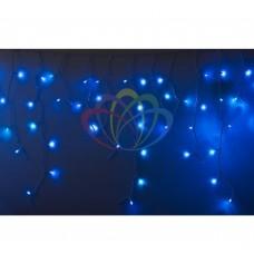 Гирлянда NEON-NIGHT Айсикл (бахрома) светодиодный, 2,4 х 0,6 м, белый провод, 220В, диоды синие 255-033-6