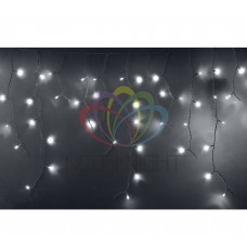 Гирлянда NEON-NIGHT Айсикл (бахрома) светодиодный, 4,8 х 0,6 м, белый провод, 220В, диоды белые 255-137-6