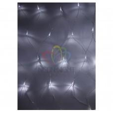 Гирлянда - сеть светодиод. 1,5х1,5м, свеч. с динамикой, прозрачный провод, диоды БЕЛЫЕ NEON-NIGHT