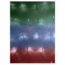 Гирлянда - сеть светодиодная NEON-NIGHT 1,5х1,5м, свеч. с динамикой, прозрачный провод, диоды мультиколор 215-129