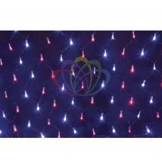 Гирлянда - сеть светодиод. 2,5 х 2,5м, свеч. с динамикой, черный провод, красно/синие диоды NEON-NIGHT