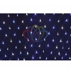 Гирлянда - сеть светодиод. 2 х 1,5м, свеч. с динамикой, черный провод, белые/синие диоды NEON-NIGHT