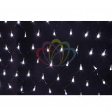 Гирлянда - сеть светодиодная NEON-NIGHT 2 х 0.7м, свечение с динамикой, черный провод, белые диоды 215-011