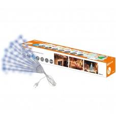 """Гирлянда """"Сосульки"""", падающий голубой свет, 30 см, 8 шт в комплекте, 3,8 м, TDM"""