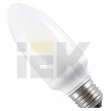 Лампа люминисцентная КЭЛ-C Е14 11Вт 2700К свеча IEK